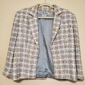 Carlisle Grey Multicolor tweed blazer sz 14